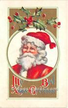 hol017342 - Santa Claus Postcard Old Vintage Christmas Post Card
