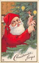 hol017343 - Santa Claus Postcard Old Vintage Christmas Post Card