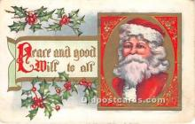 hol017344 - Santa Claus Postcard Old Vintage Christmas Post Card