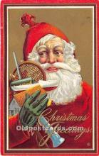 hol017345 - Santa Claus Postcard Old Vintage Christmas Post Card