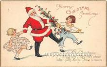 hol017348 - Santa Claus Postcard Old Vintage Christmas Post Card
