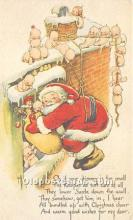 hol017349 - Santa Claus Postcard Old Vintage Christmas Post Card