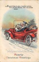 hol017351 - Santa Claus Postcard Old Vintage Christmas Post Card