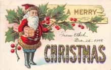 hol017353 - Santa Claus Postcard Old Vintage Christmas Post Card
