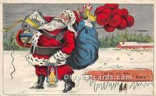 hol017355 - Santa Claus Postcard Old Vintage Christmas Post Card