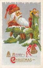 hol017356 - Santa Claus Postcard Old Vintage Christmas Post Card