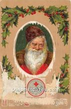 hol017358 - Santa Claus Postcard Old Vintage Christmas Post Card