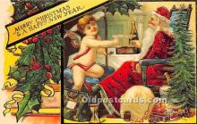 hol017360 - Santa Claus Postcard Old Vintage Christmas Post Card