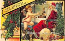 hol017361 - Santa Claus Postcard Old Vintage Christmas Post Card