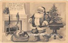 hol017362 - Santa Claus Postcard Old Vintage Christmas Post Card