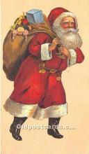 hol017364 - Santa Claus Postcard Old Vintage Christmas Post Card