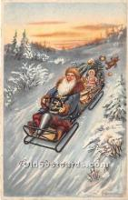 hol017372 - Santa Claus Postcard Old Vintage Christmas Post Card
