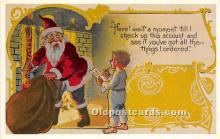 hol017374 - Santa Claus Postcard Old Vintage Christmas Post Card