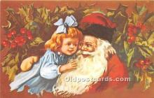 hol017375 - Santa Claus Postcard Old Vintage Christmas Post Card