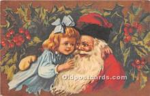 hol017377 - Santa Claus Postcard Old Vintage Christmas Post Card