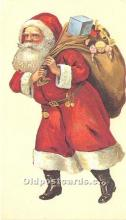 hol017378 - Santa Claus Postcard Old Vintage Christmas Post Card