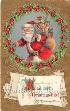 hol017381 - Santa Claus Postcard Old Vintage Christmas Post Card