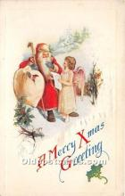 hol017382 - Santa Claus Postcard Old Vintage Christmas Post Card