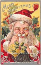 hol017384 - Santa Claus Postcard Old Vintage Christmas Post Card