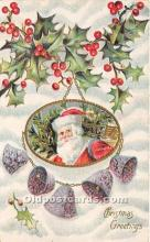 hol017385 - Santa Claus Postcard Old Vintage Christmas Post Card
