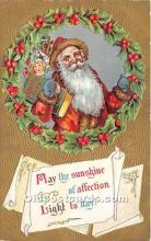 hol017390 - Santa Claus Postcard Old Vintage Christmas Post Card