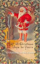 hol017393 - Santa Claus Postcard Old Vintage Christmas Post Card