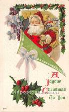 hol017395 - Santa Claus Postcard Old Vintage Christmas Post Card