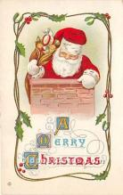 hol017400 - Santa Claus Postcard Old Vintage Christmas Post Card