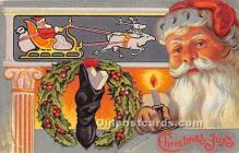 hol017403 - Santa Claus Postcard Old Vintage Christmas Post Card