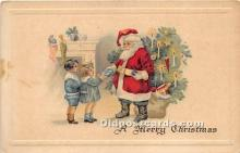 hol017405 - Santa Claus Postcard Old Vintage Christmas Post Card