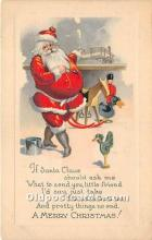 hol017408 - Santa Claus Postcard Old Vintage Christmas Post Card