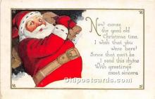 hol017409 - Santa Claus Postcard Old Vintage Christmas Post Card