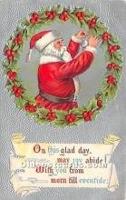 hol017410 - Santa Claus Postcard Old Vintage Christmas Post Card