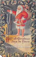 hol017411 - Santa Claus Postcard Old Vintage Christmas Post Card