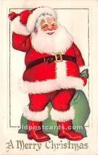 hol017413 - Santa Claus Postcard Old Vintage Christmas Post Card