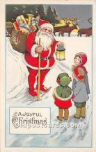 hol017418 - Santa Claus Postcard Old Vintage Christmas Post Card