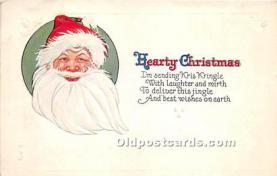 hol017423 - Santa Claus Postcard Old Vintage Christmas Post Card