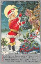 hol017424 - Santa Claus Postcard Old Vintage Christmas Post Card