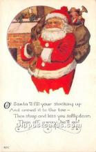 hol017425 - Santa Claus Postcard Old Vintage Christmas Post Card
