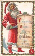 hol017427 - Santa Claus Postcard Old Vintage Christmas Post Card