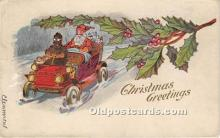 hol017428 - Santa Claus Postcard Old Vintage Christmas Post Card