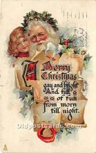 hol017429 - Santa Claus Postcard Old Vintage Christmas Post Card