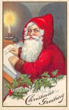 hol017430 - Santa Claus Postcard Old Vintage Christmas Post Card