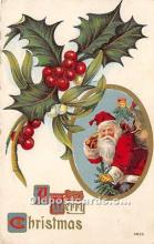 hol017431 - Santa Claus Postcard Old Vintage Christmas Post Card