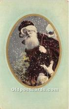 hol017434 - Santa Claus Postcard Old Vintage Christmas Post Card