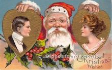 hol017435 - Santa Claus Postcard Old Vintage Christmas Post Card