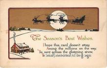 hol017436 - Santa Claus Postcard Old Vintage Christmas Post Card