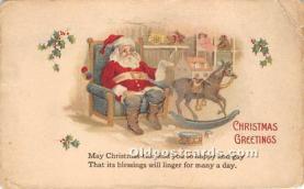 hol017437 - Santa Claus Postcard Old Vintage Christmas Post Card