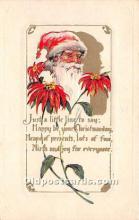 hol017439 - Santa Claus Postcard Old Vintage Christmas Post Card