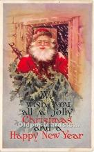 hol017441 - Santa Claus Postcard Old Vintage Christmas Post Card